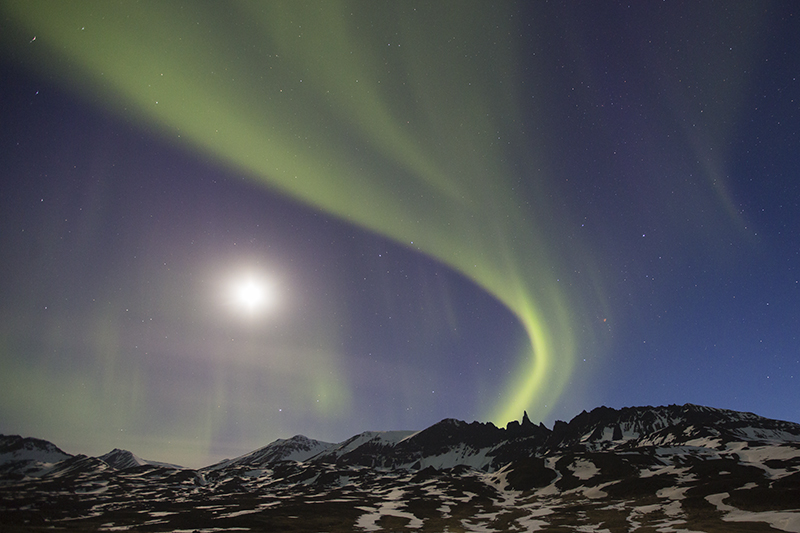 Aurora at Hraundrangar