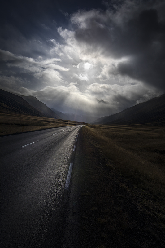 Driving Into Light And Into Sky >> Driving Into The Light Magical Sky Iceland