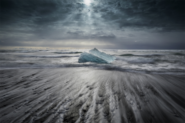 Iceberg at Diamond beach, Jökulsárlón
