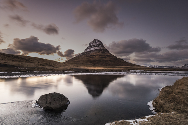 The majestic mountain Kirkjufell at Snæfellsnes peninsula