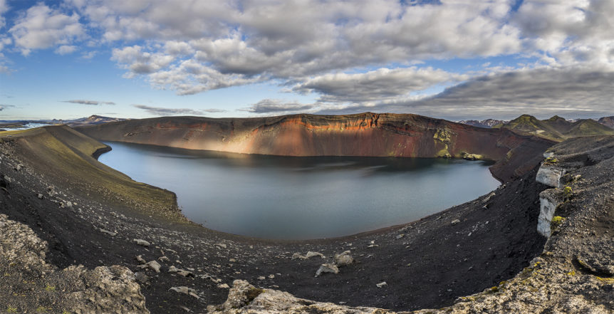 Crater Ugly Puddle / Ljóti pollur - pano