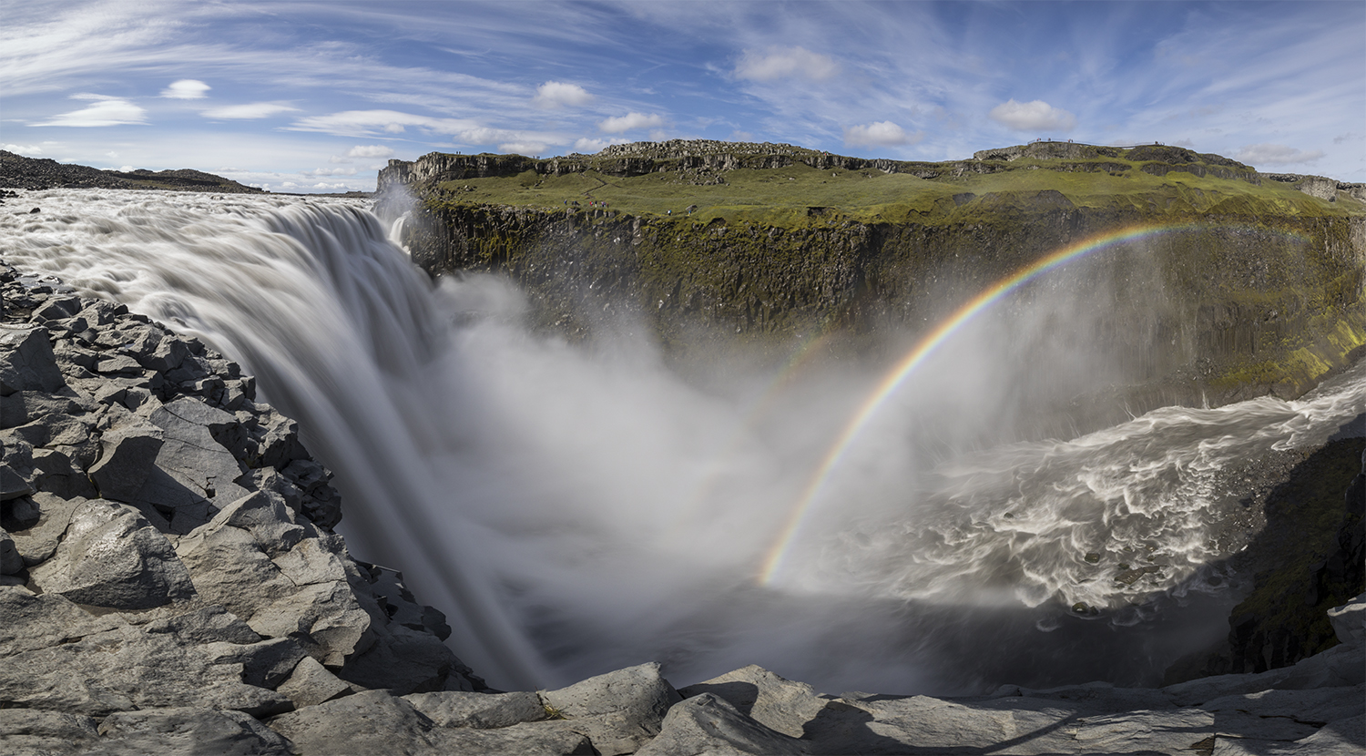 Waterfall Dettifoss - pano