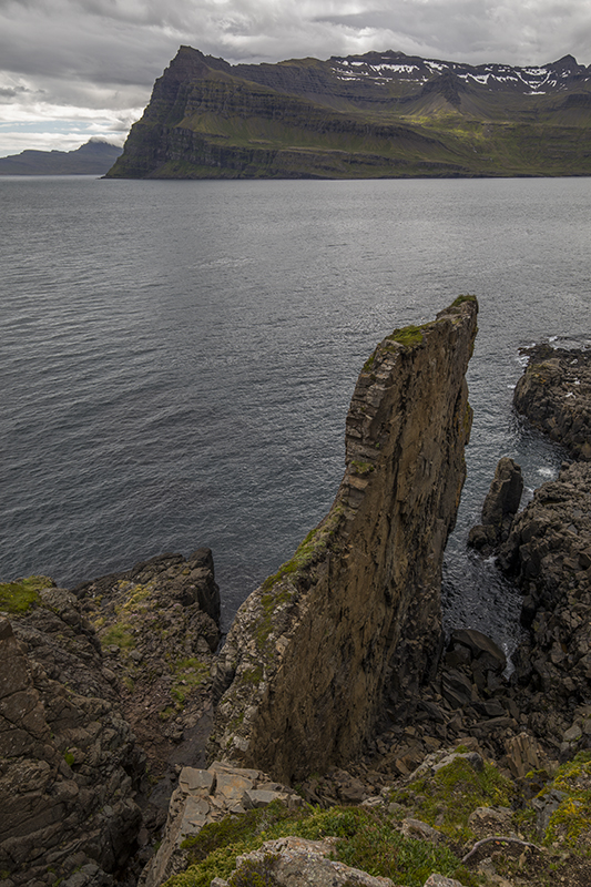 Cliff in Mjoifjordur