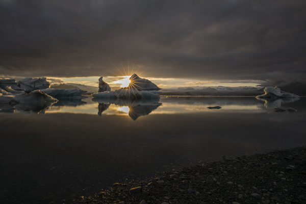 Sunset at Glacier Lagoon