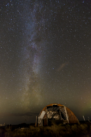 The old shed and the Milky way