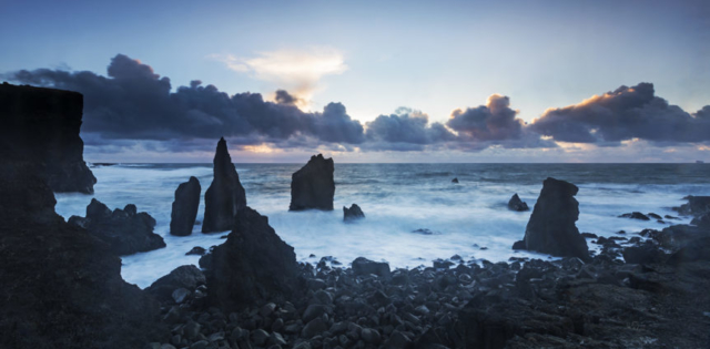 Sea stacks at Reykjanes