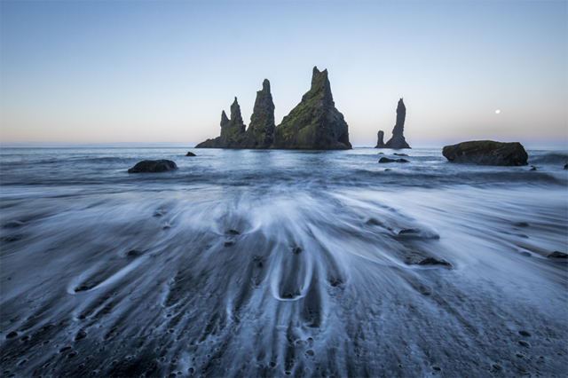 Pillars at black beach, Reynisdrangar