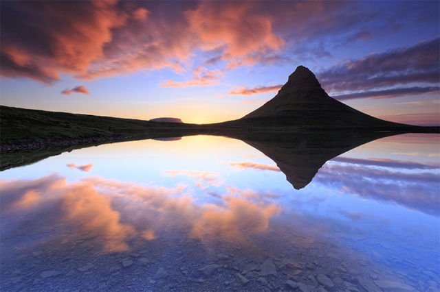 Kirkjufell at sunset