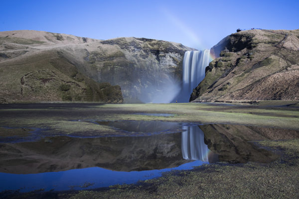 Reflection of Skógafoss