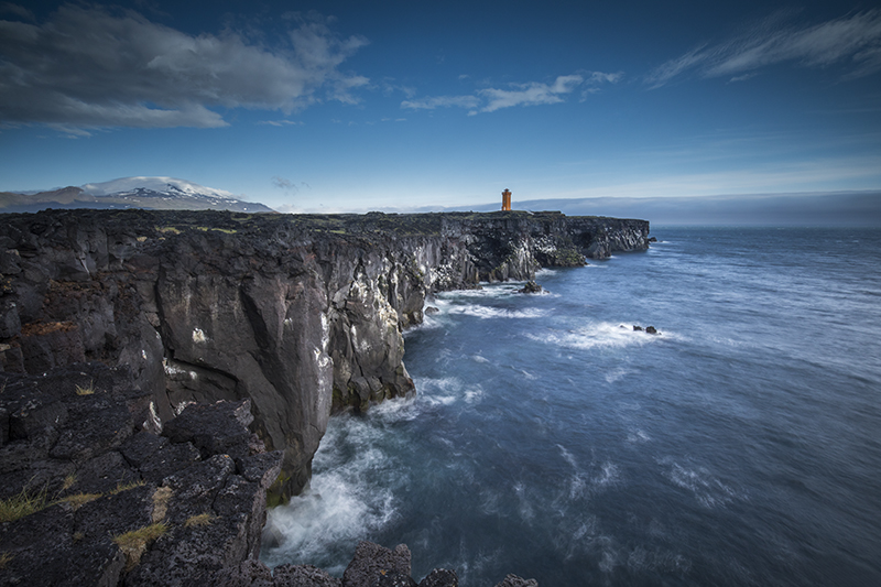Seacliff and Lighthouse at Snæfellsnes