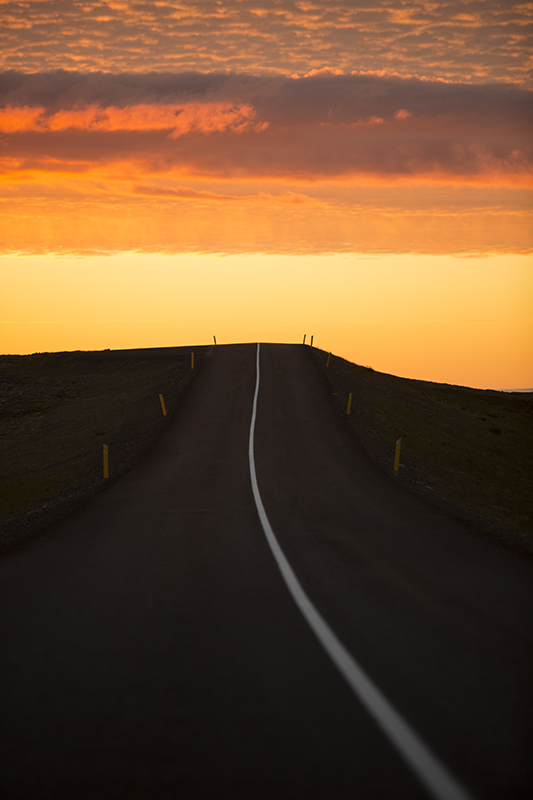 The road to sunset