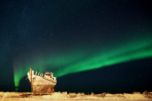 Auroa and the old boat