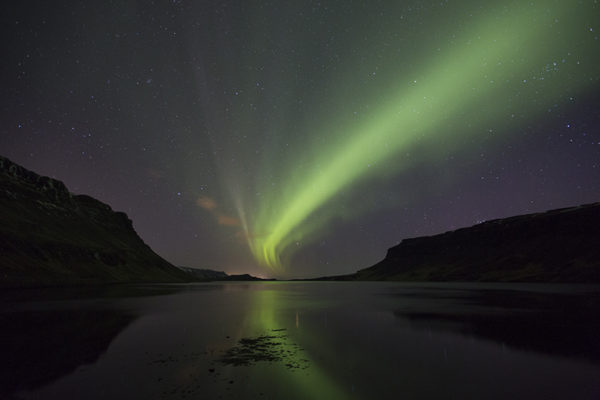 Aurora from the bottom of Hvalfjordur