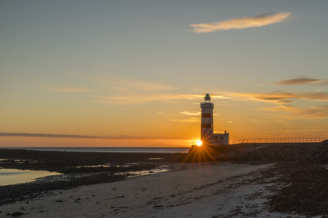 Sunset at the Lighthouse in Gardur