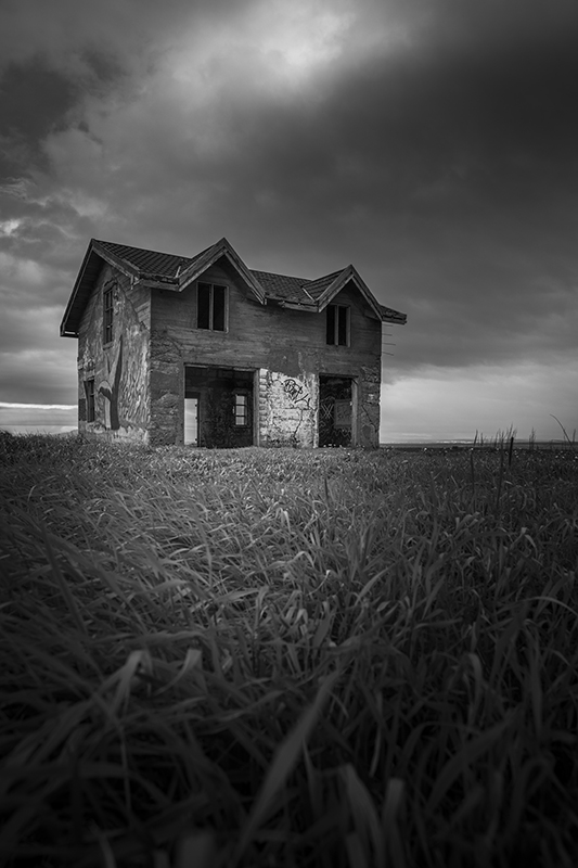 Abandoned house at Vatnsleysustrond