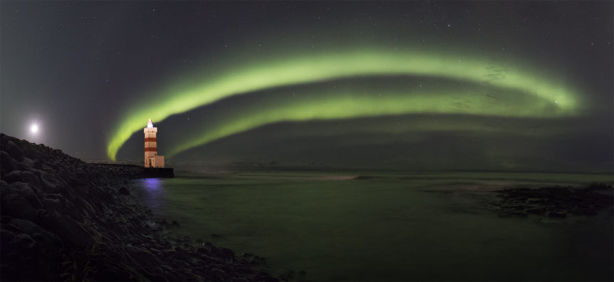Aurora and the lighthouse