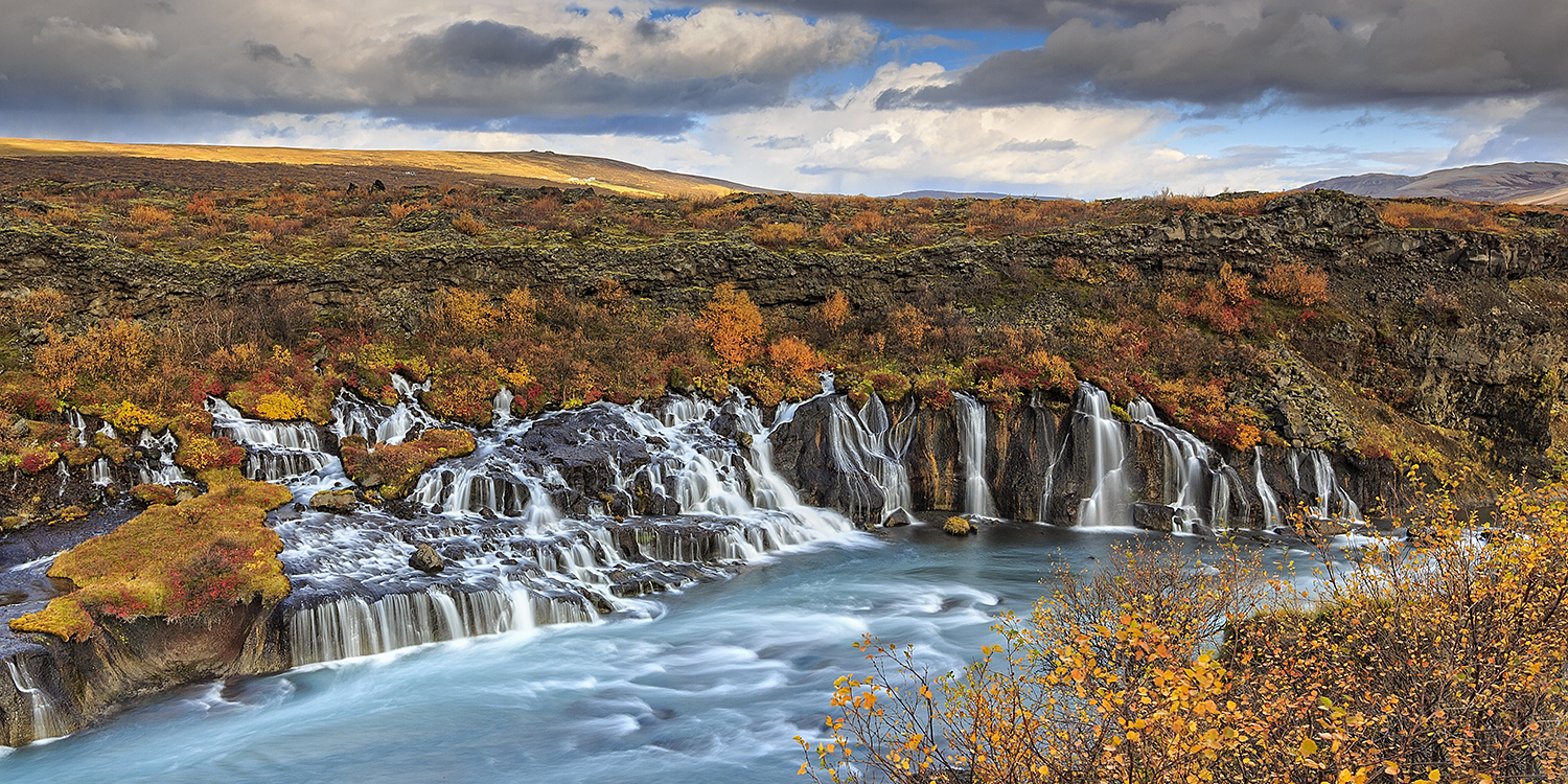 Hraunfossar in autumn colours
