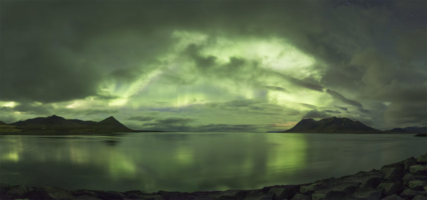 Northern lights at Kolgrafarfjordur