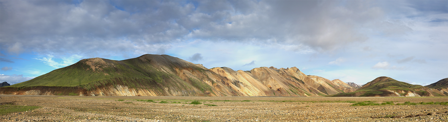 Colourful mountain ridge in Landmannalaugar