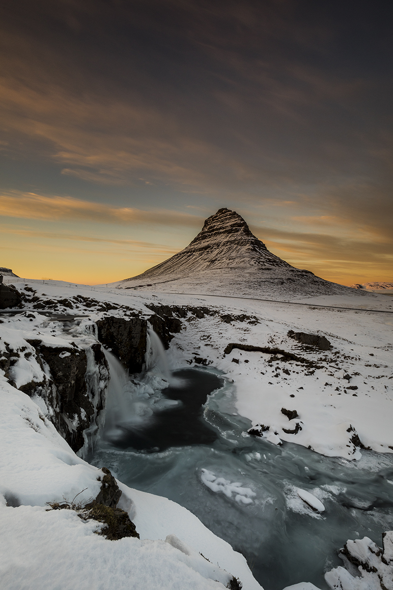 Golden sky at Kirkjufell