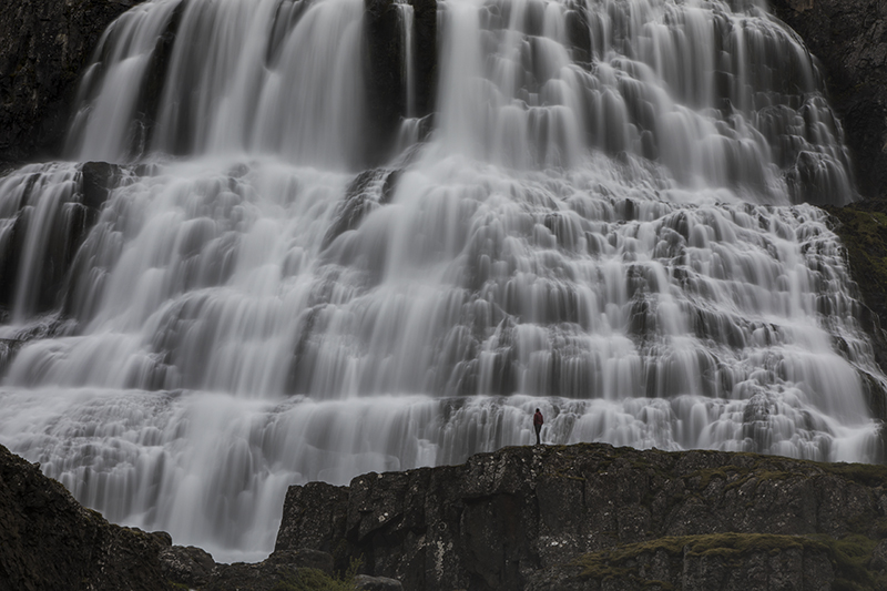 Dynjandi waterfall in westfjords