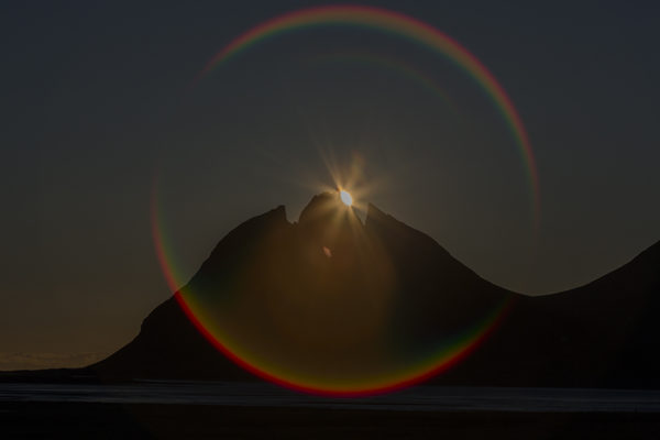 Sun halo at Batman mountain