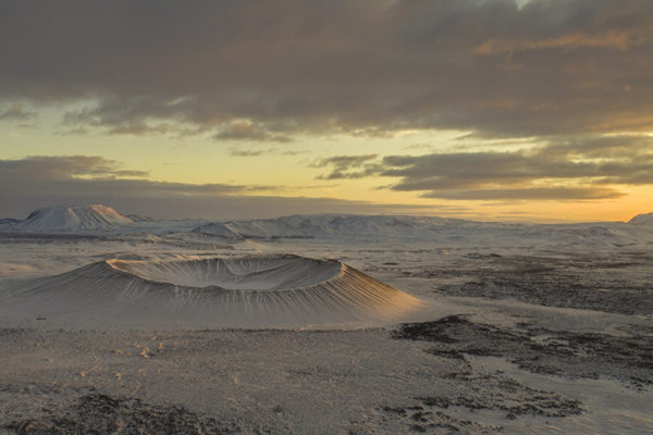 Crater Hverfjall in the north