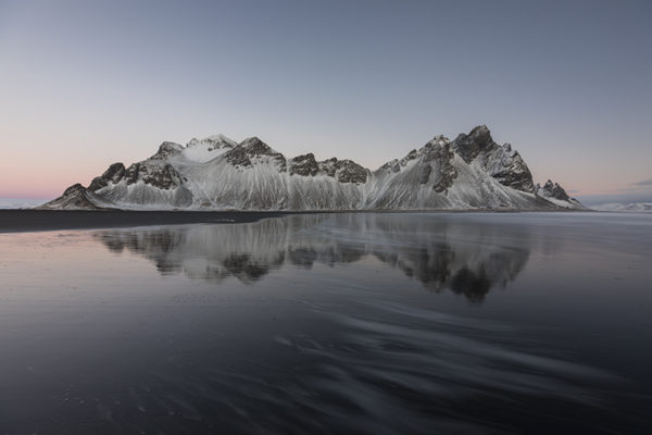 Vestrahorn and its reflection